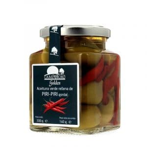 Aceituna gordal rellena de pimiento Piri-Piri